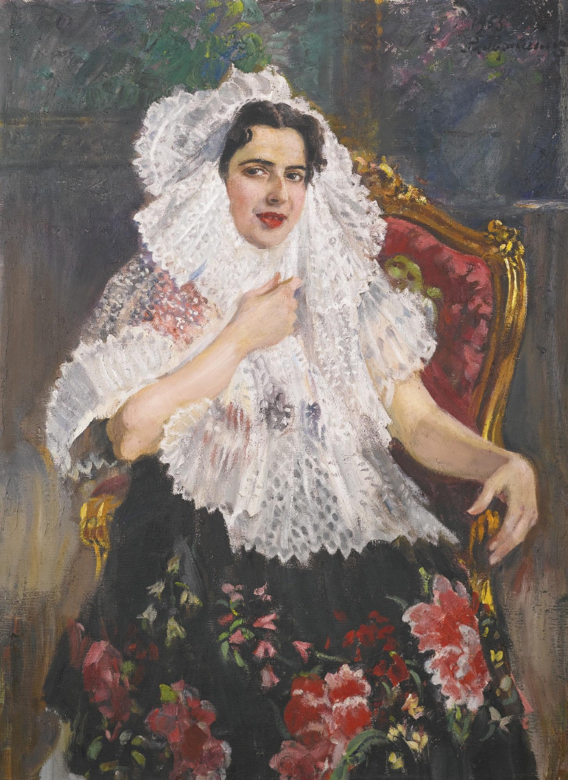 Alexander Mikhailovich Gerasimov. Daughter of the Ambassador of Mexico, Gloria in the national costume of the teahana. Private collection
