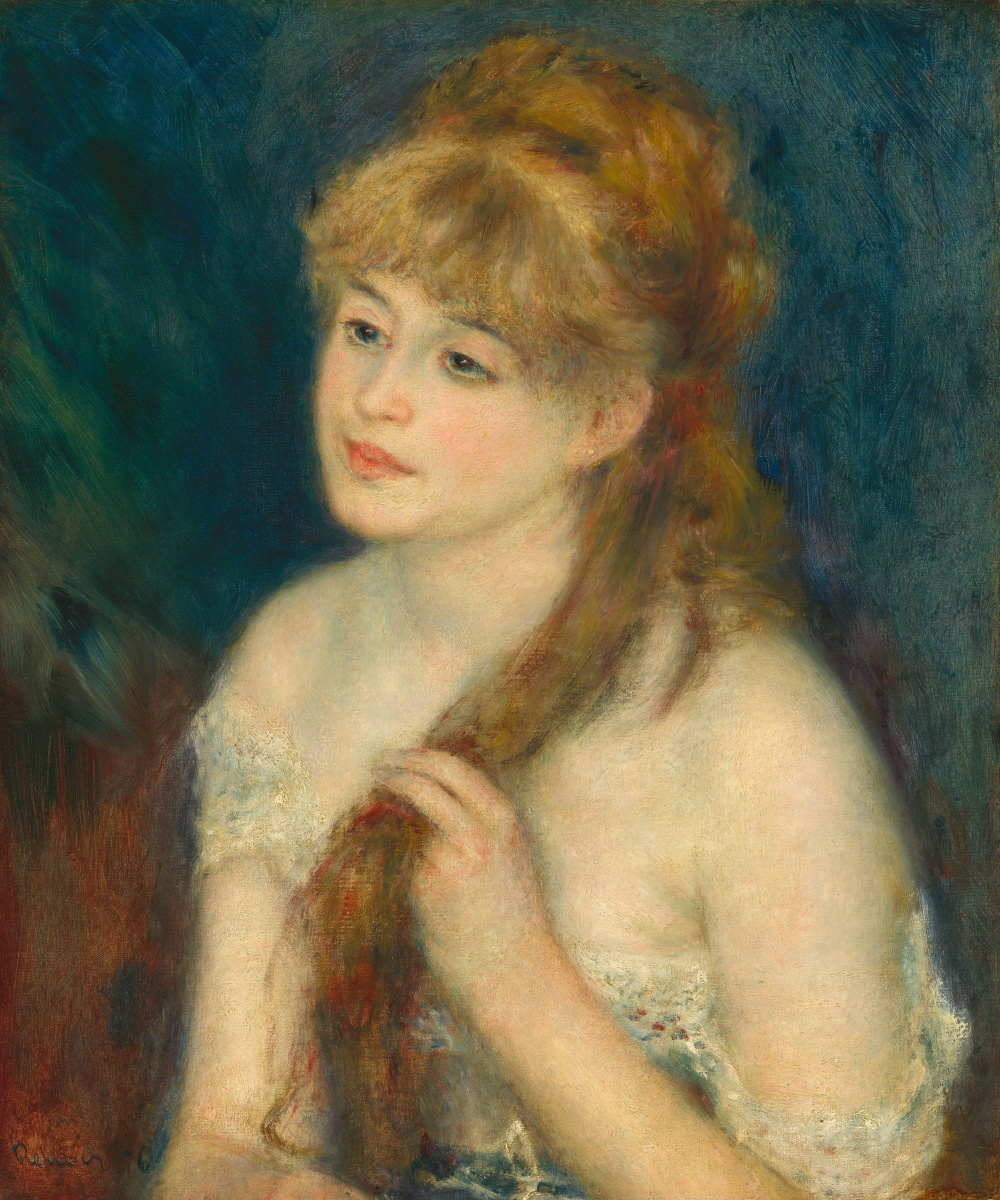 Pierre-Auguste Renoir. The girl combing the hair