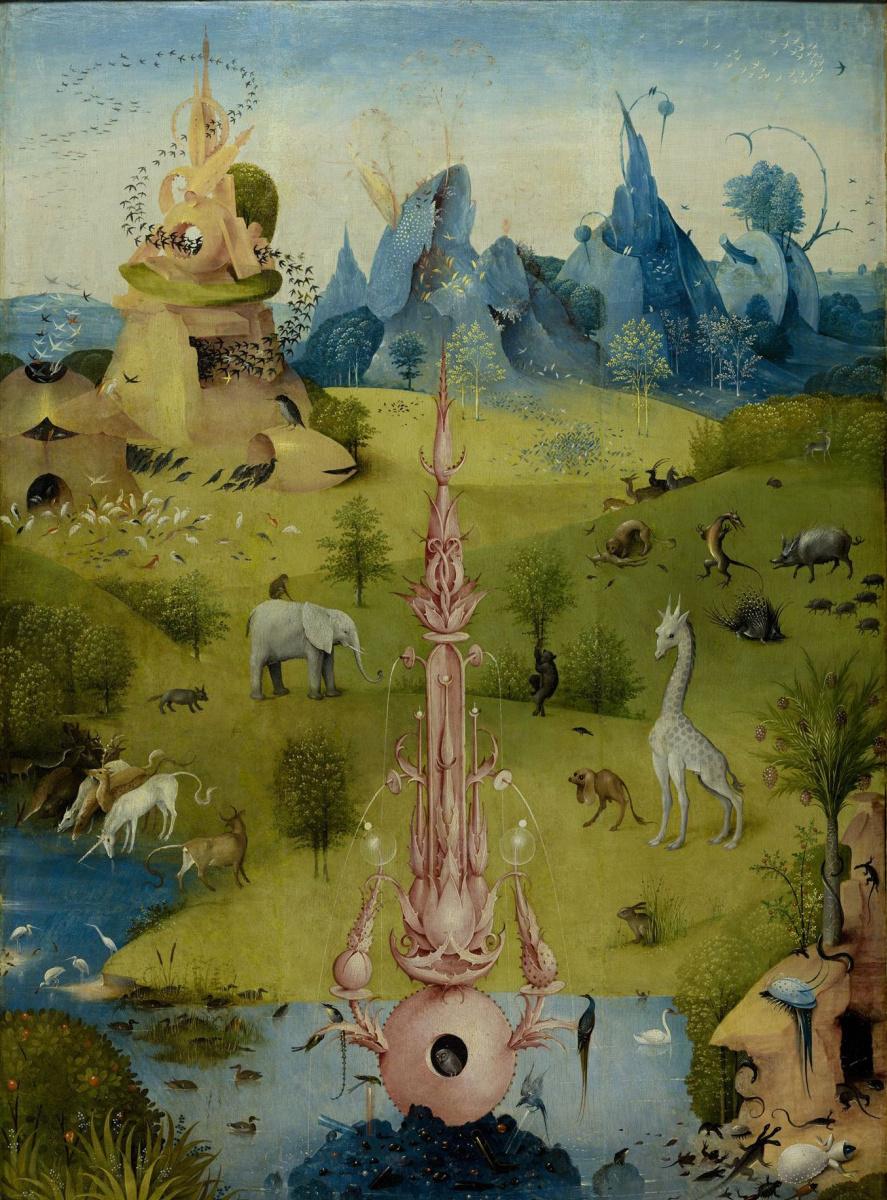 Иероним Босх. Сад земных наслаждений. Левая створка. Фрагмент