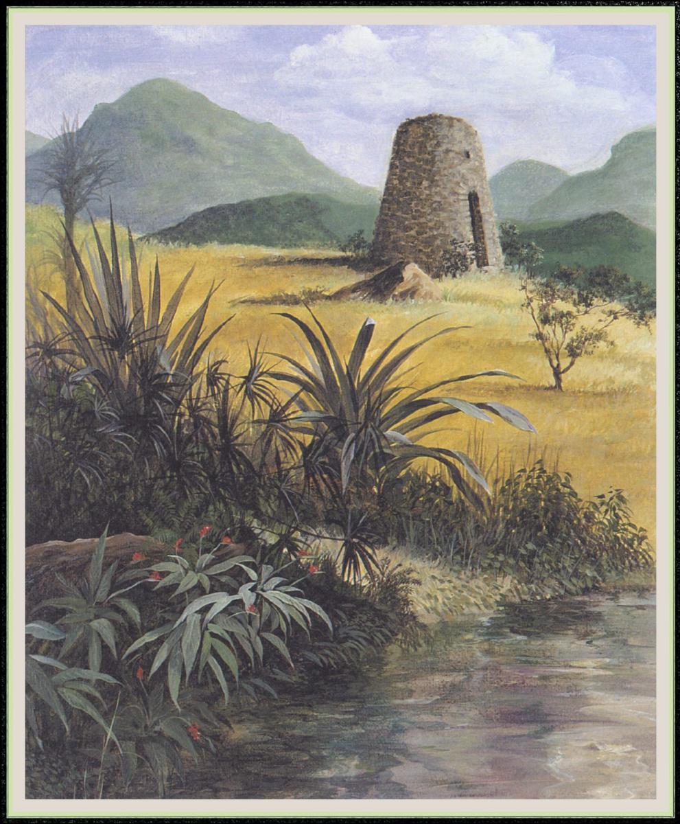 Уильям Вуд. Сахарный завод у пруда