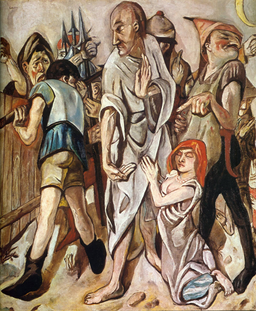 Max Beckmann. Christ and the adulteress