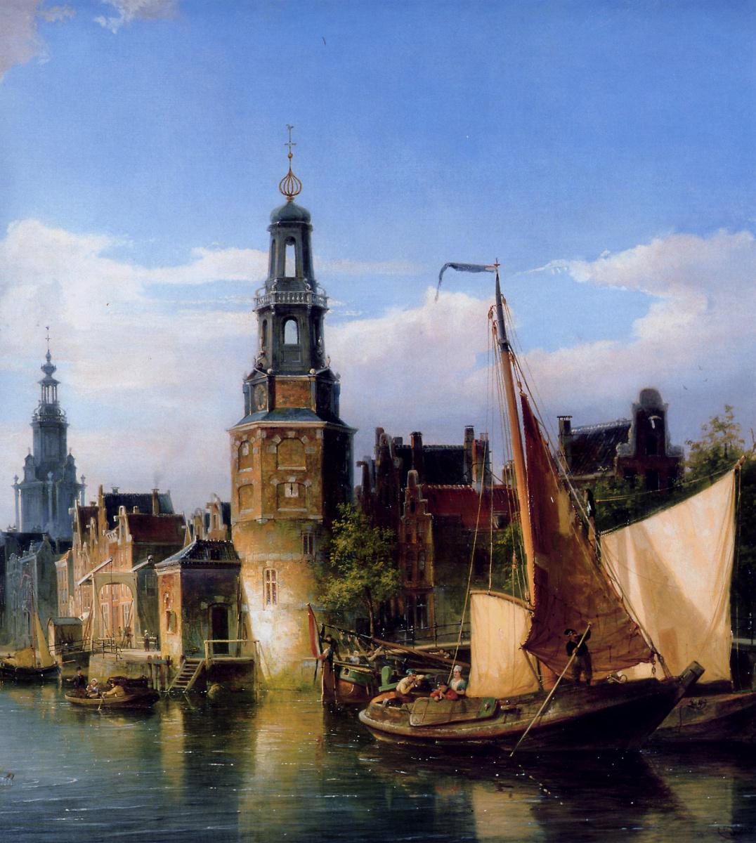 Peter Cornelis Dommersen. City view