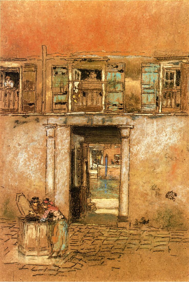 James Abbot McNeill Whistler. Courtyard and canal