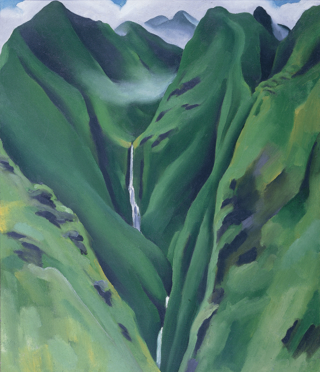 Georgia O'Keeffe. Waterfall No. 1, 'Īao Valley, Maui,
