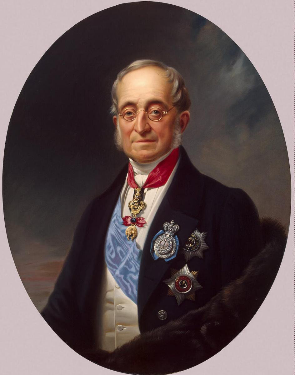 Франц Крюгер. Портрет Нессельроде