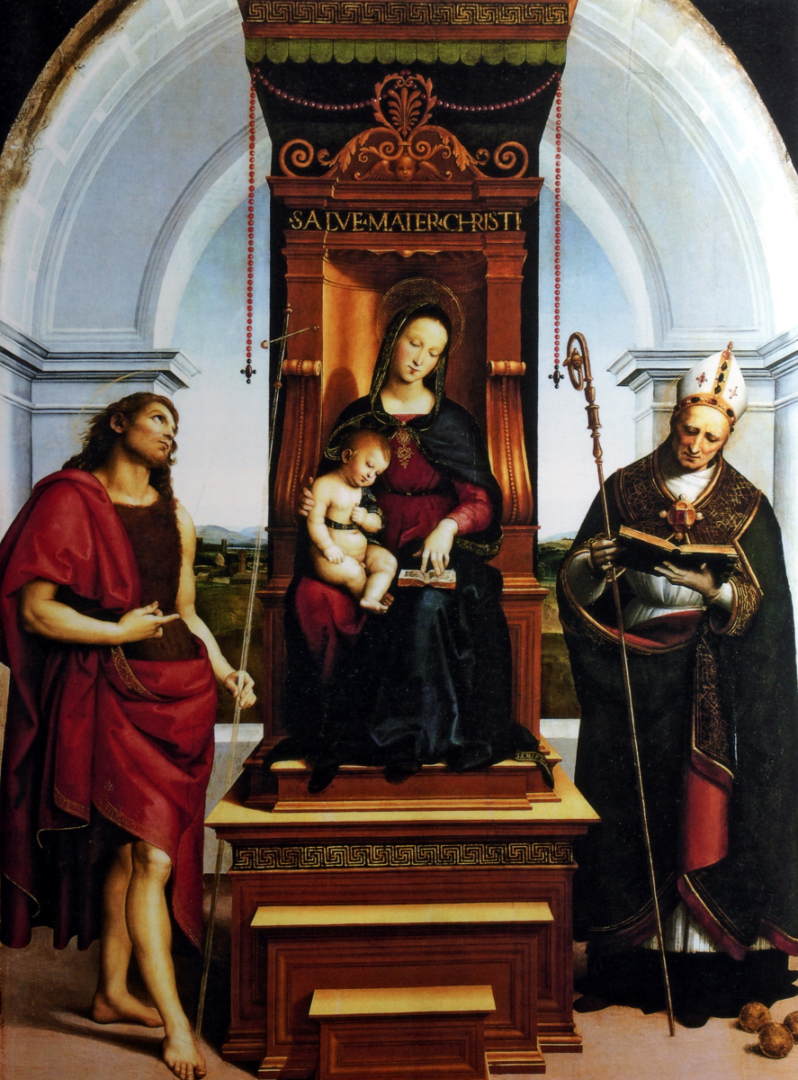 Рафаэль Санти. Мадонна с младенцем на троне (Мадонна Ансидеи)