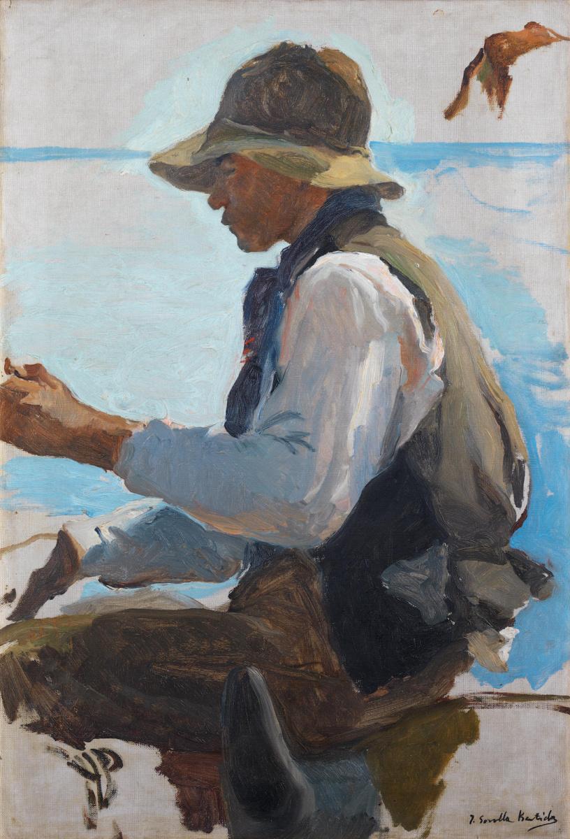 Хоакин Соролья (Соройя). Эскиз для «Возвращения с рыбалки»