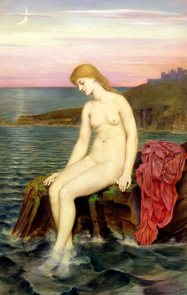Evelyn De Morgan (Pickering). Young mermaid
