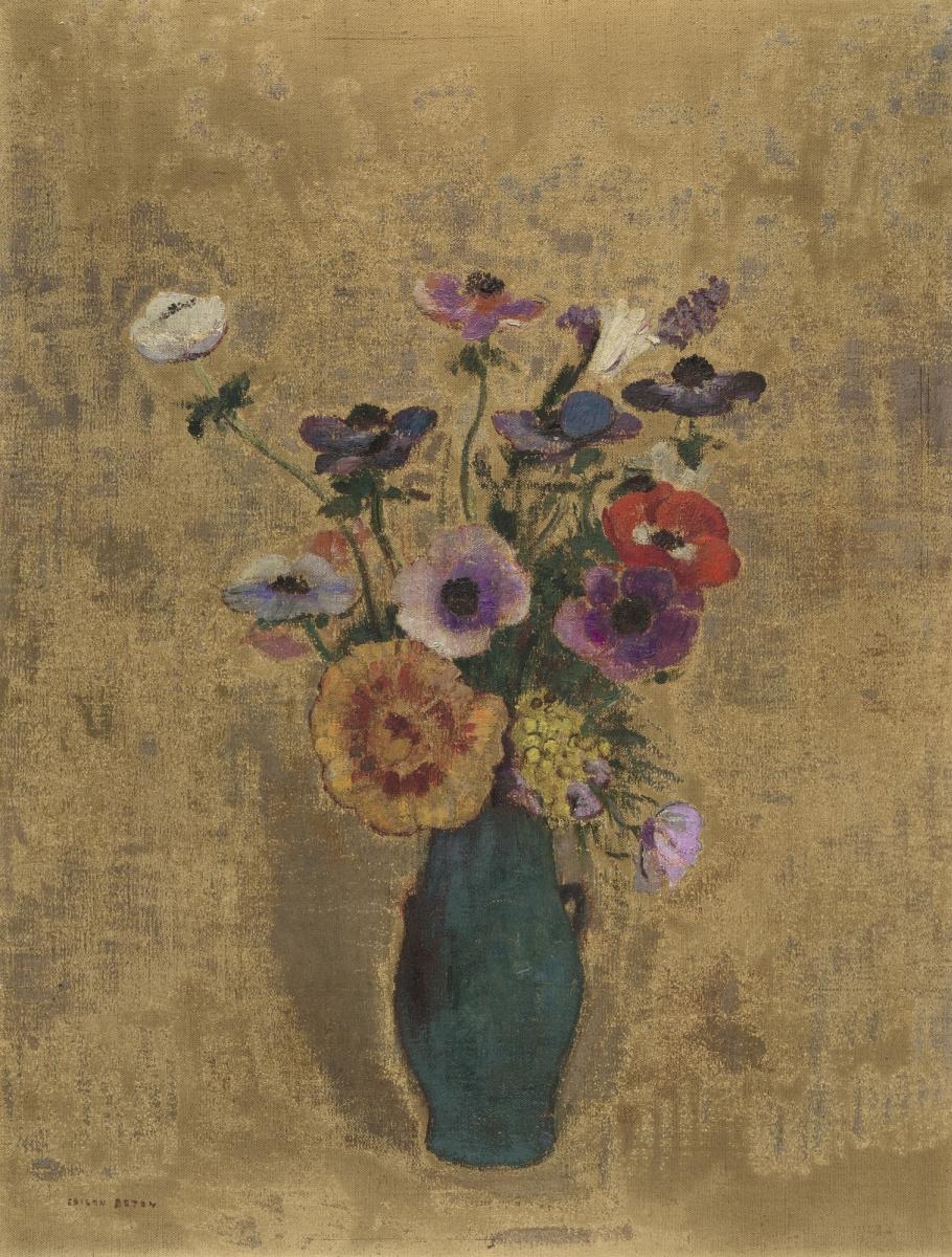 Одилон Редон. Ваза с цветами