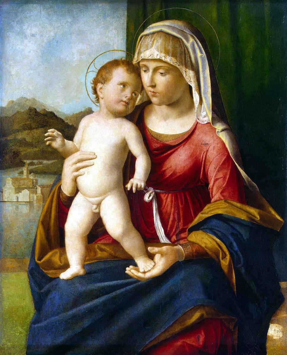 Чима да Конельяно. Мадонна с младенцем