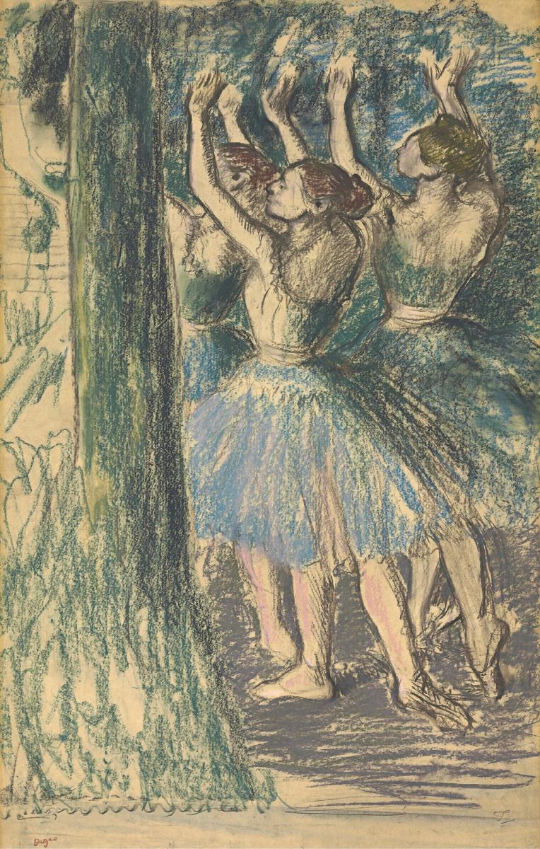 Эдгар Дега. Группа балерин