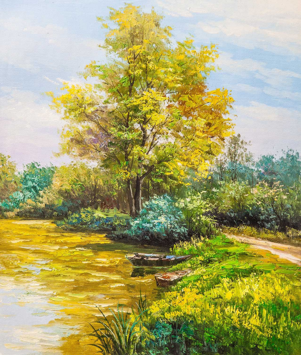 Andrey Sharabarin. On a clear day by the river