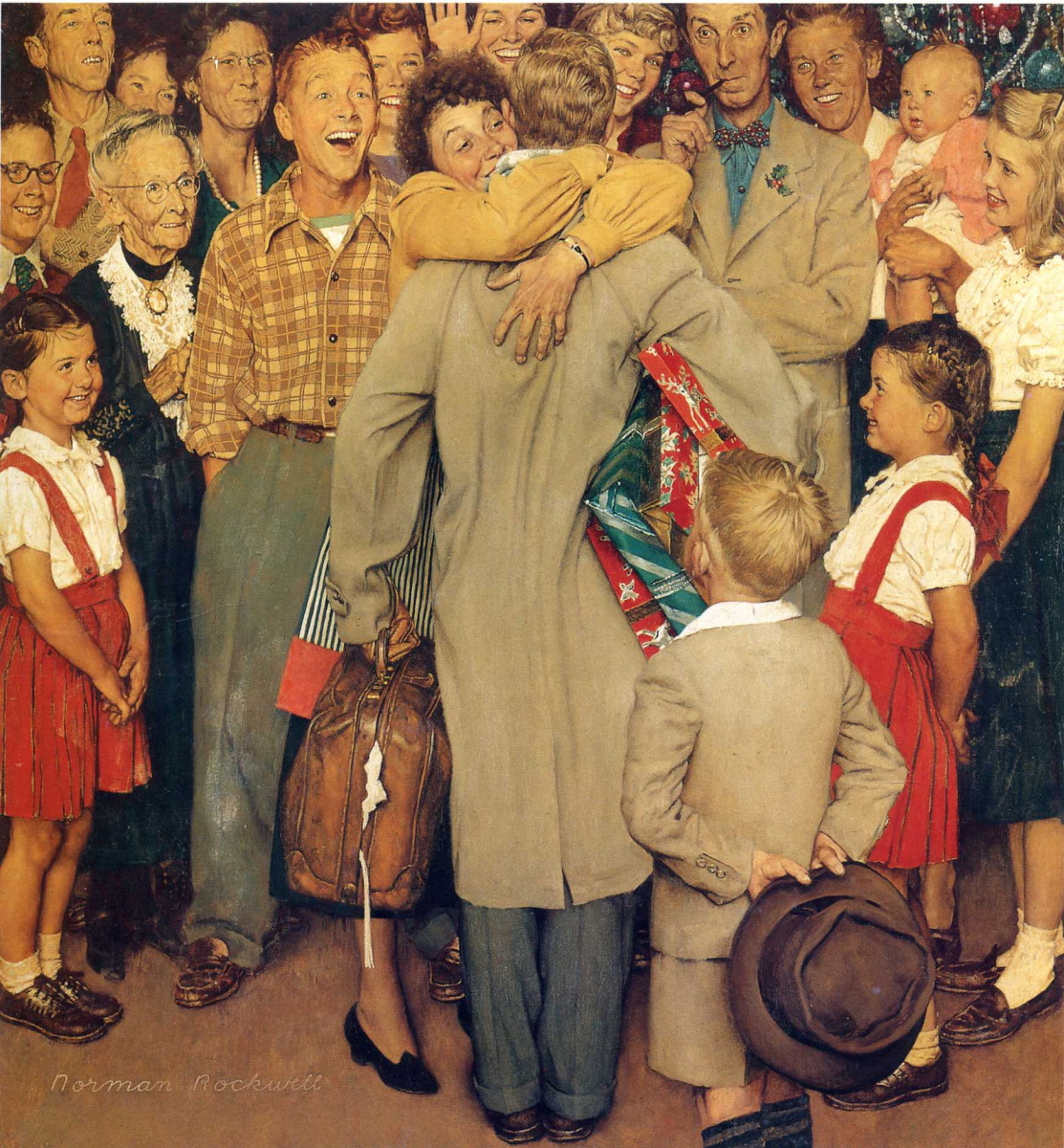 Norman Rockwell. Return home