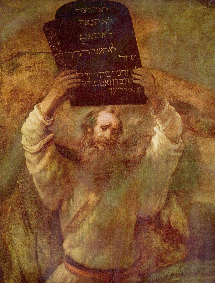 Рембрандт Харменс ван Рейн. Моисей, разбивающий скрижали завета