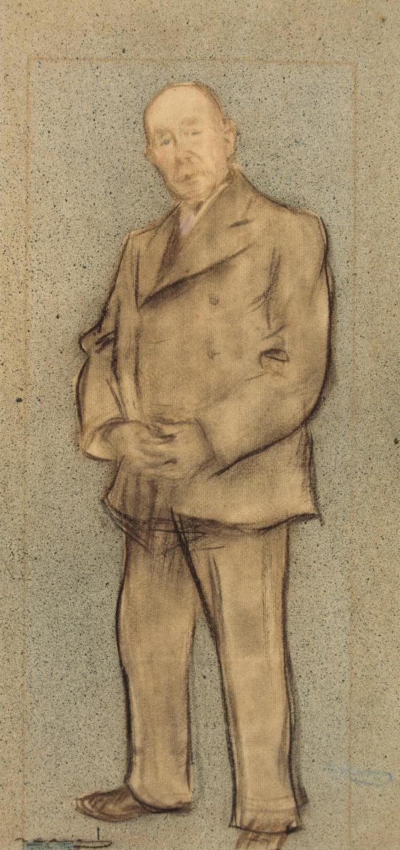 Рамон Касас Карбо. Портрет Хосепа Пареры