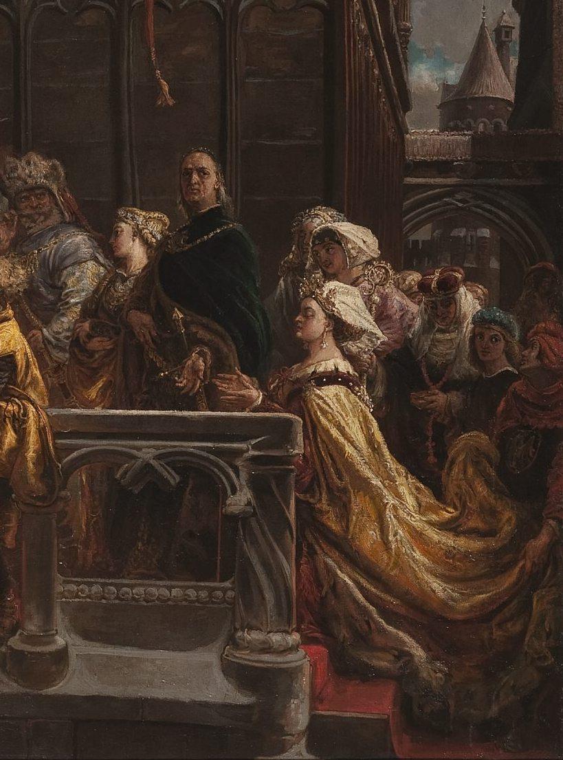 Jan Matejko. The baptism of Vladislav III of Varna in Poland on February 18, 1425. Fragment
