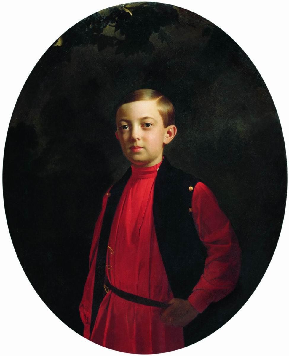 Сергей Константинович Зарянко. Портрет великого князя Николая Александровича (1843-1865). 1851