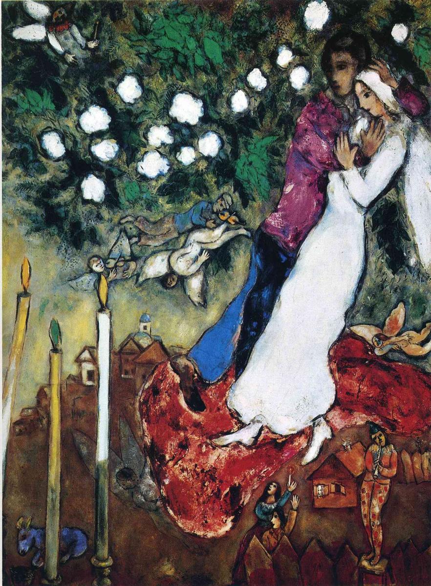 Marc Chagall. Three candles