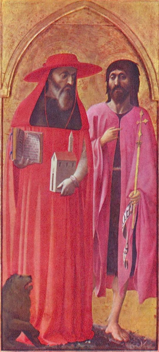 Томмазо Мазолино. Св. Иоанн Креститель и Иероним