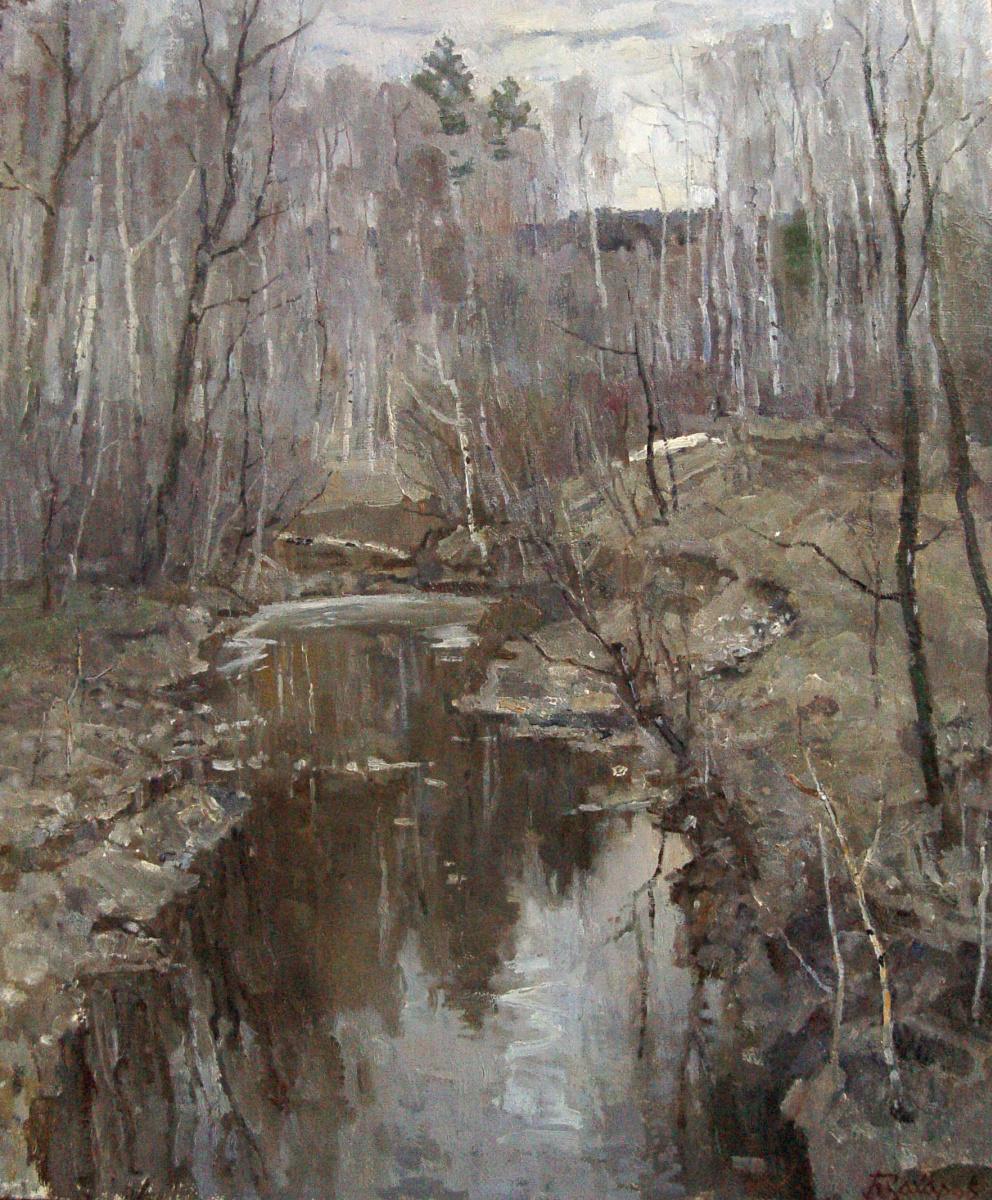 Boris Petrovich Zakharov. Forest river.
