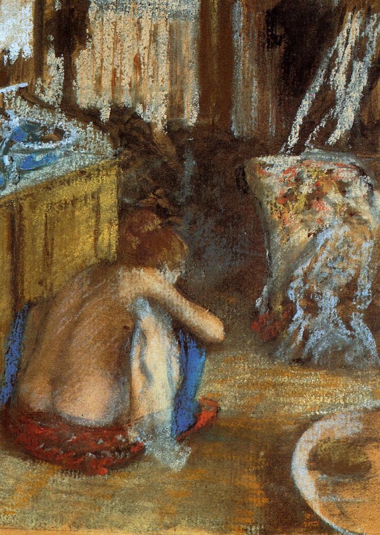 Edgar Degas. Squatting woman