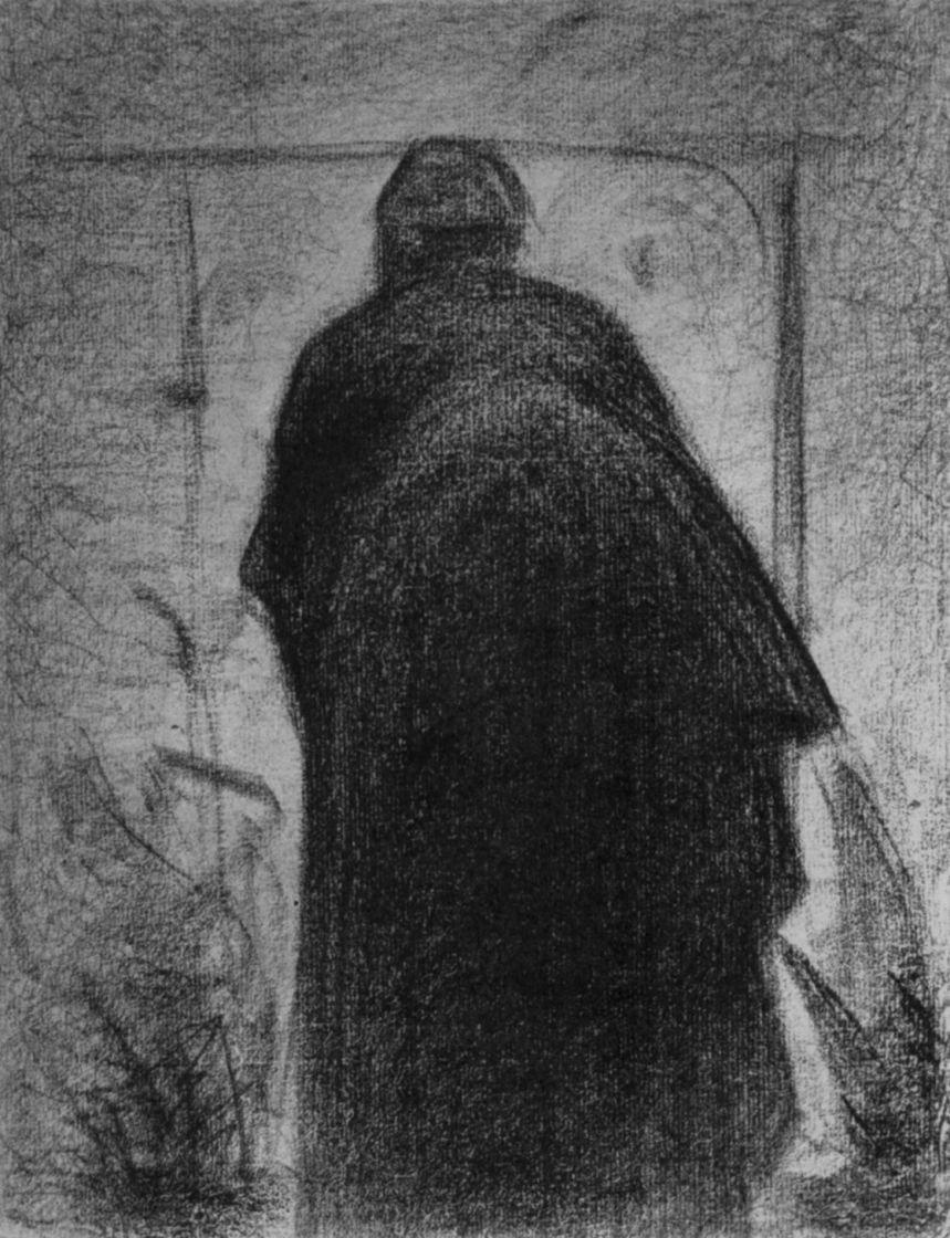Жорж Сёра. Согнувшаяся женщина, фигура со спины