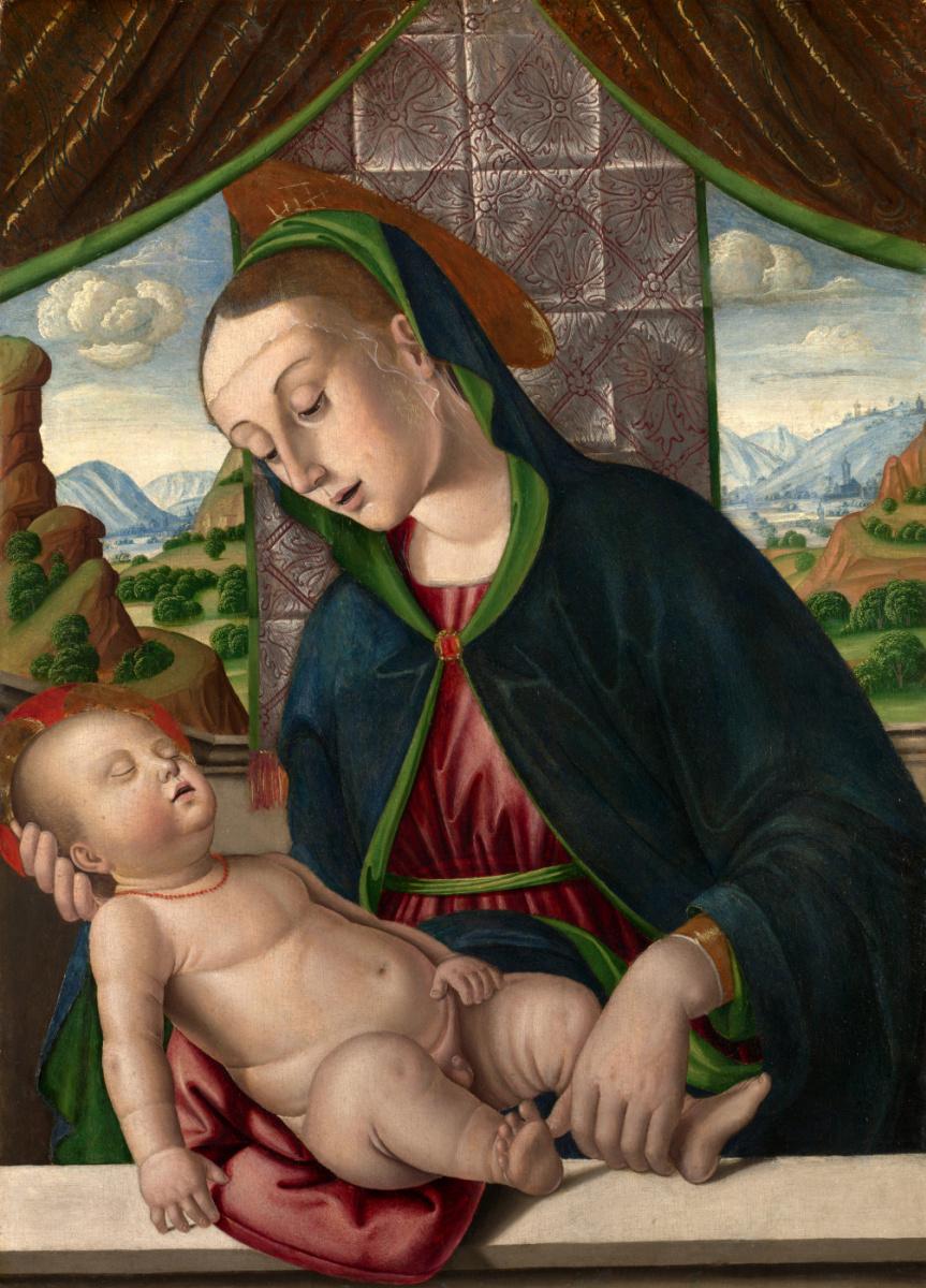 Джованни Санти. Дева с младенцем