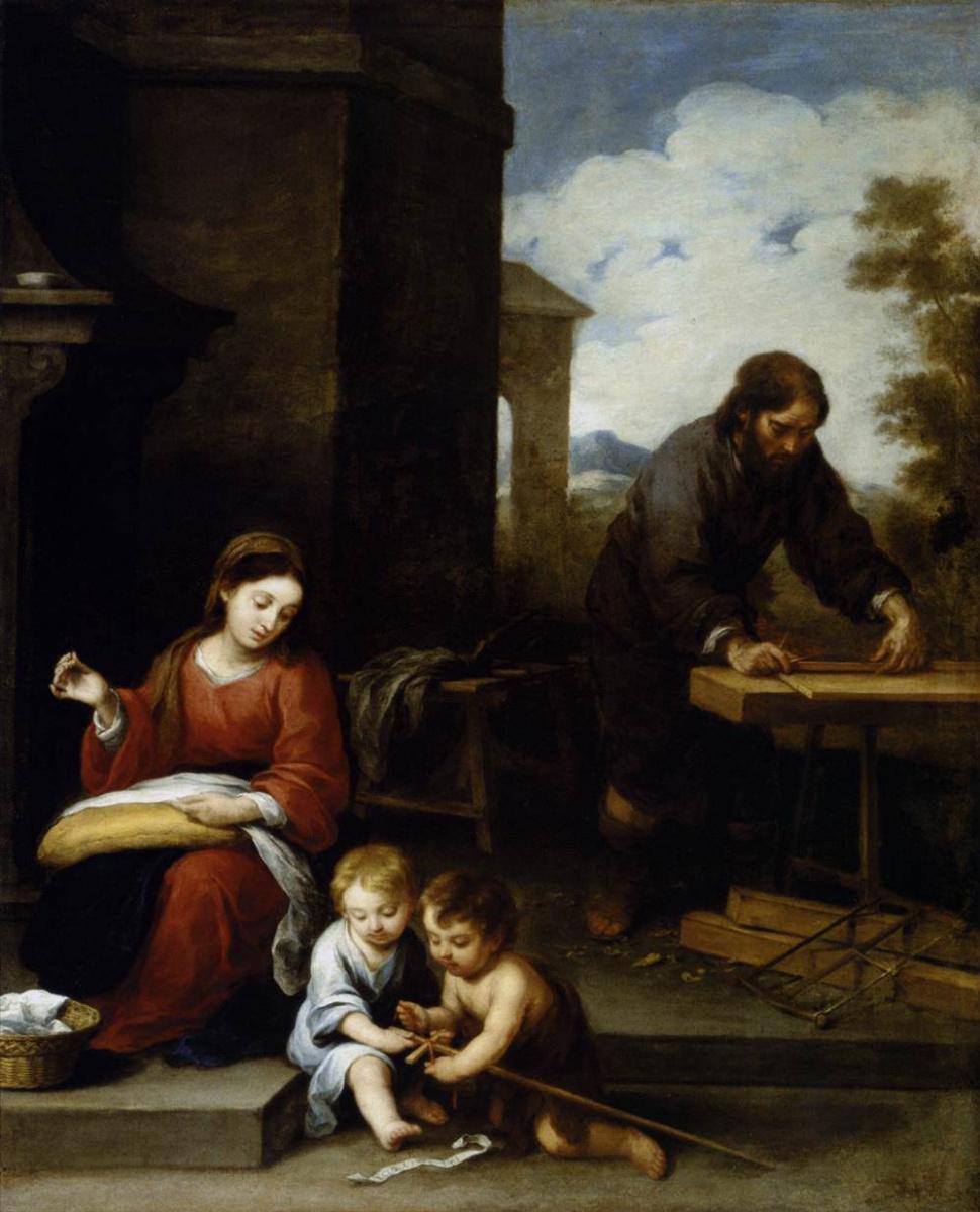 Бартоломе Эстебан Мурильо. Святое семейство и Иоанн Креститель