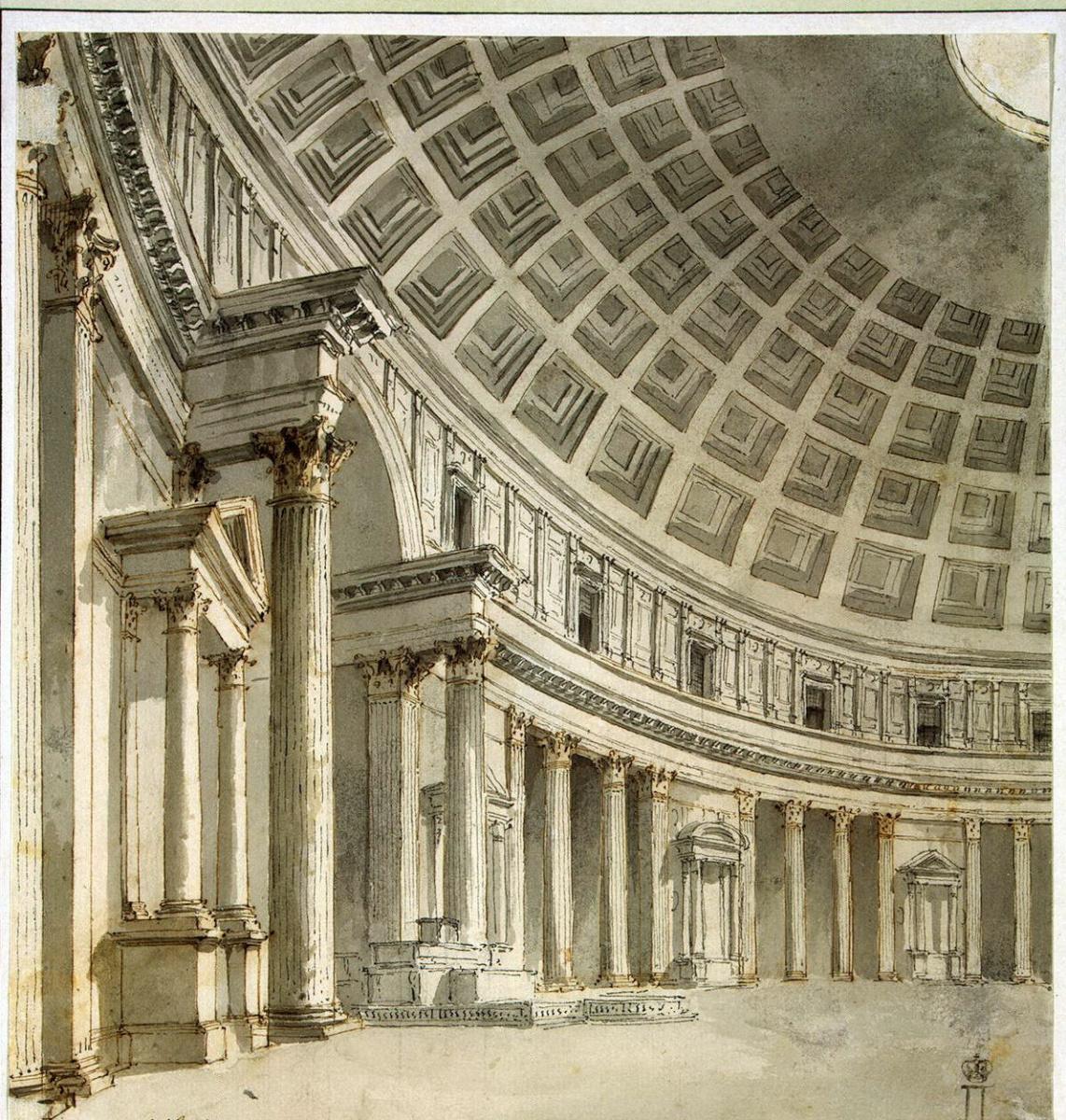 Шарль-Луи Клериссо. Интерьер Пантеона в Риме