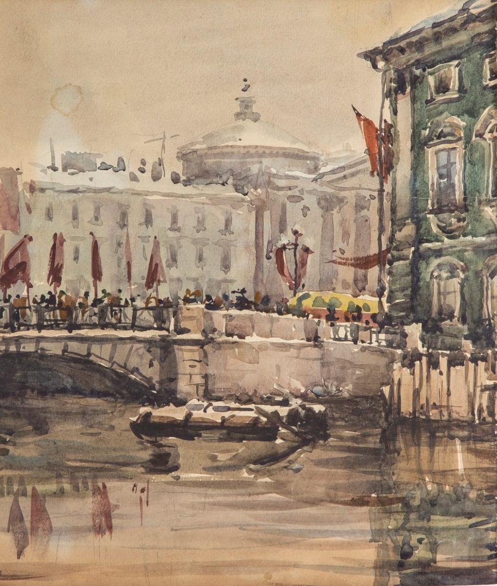 Анна Петровна Остроумова-Лебедева. Демонстрация. 1940-е.
