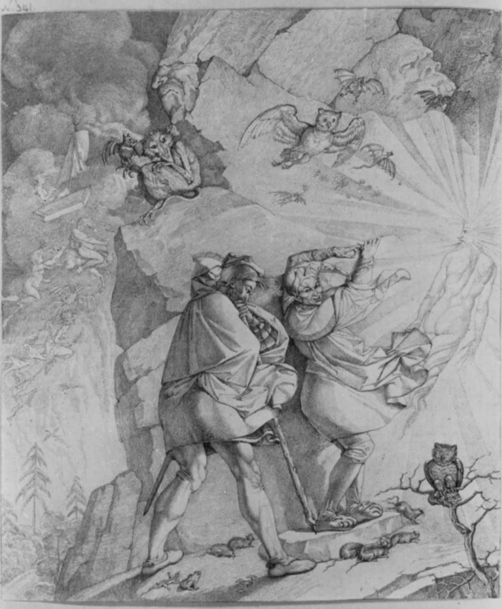 Peter von Cornelius. Faust and Mephistopheles on the way to the top of the Brocken