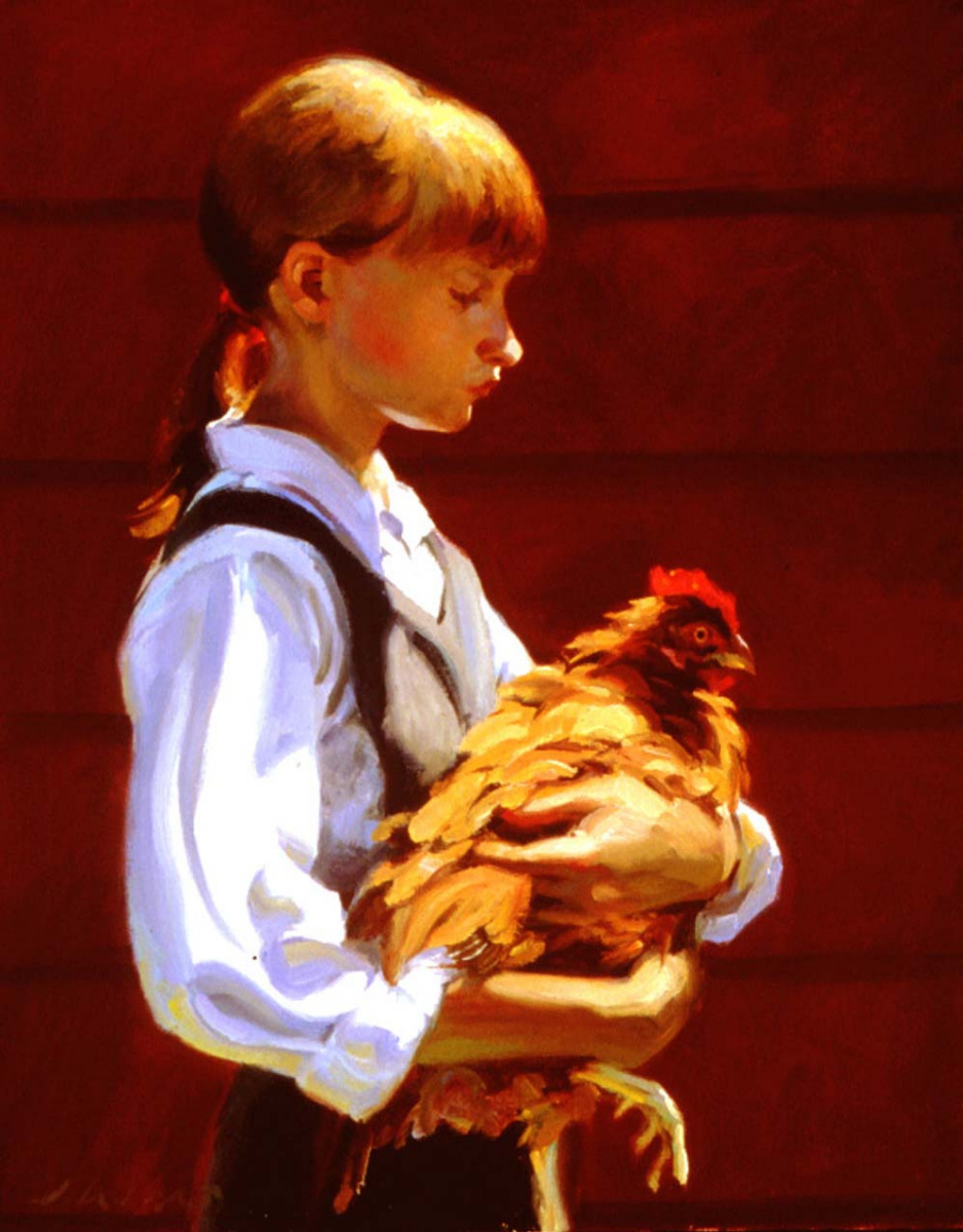 Джеффри Ларсон. Девочка с курицей