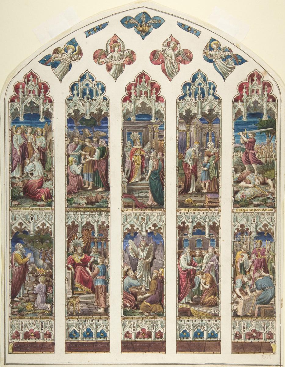 """Данте Габриэль Россетти. Дизайн витражного окна """"Ветхий Завет"""""""