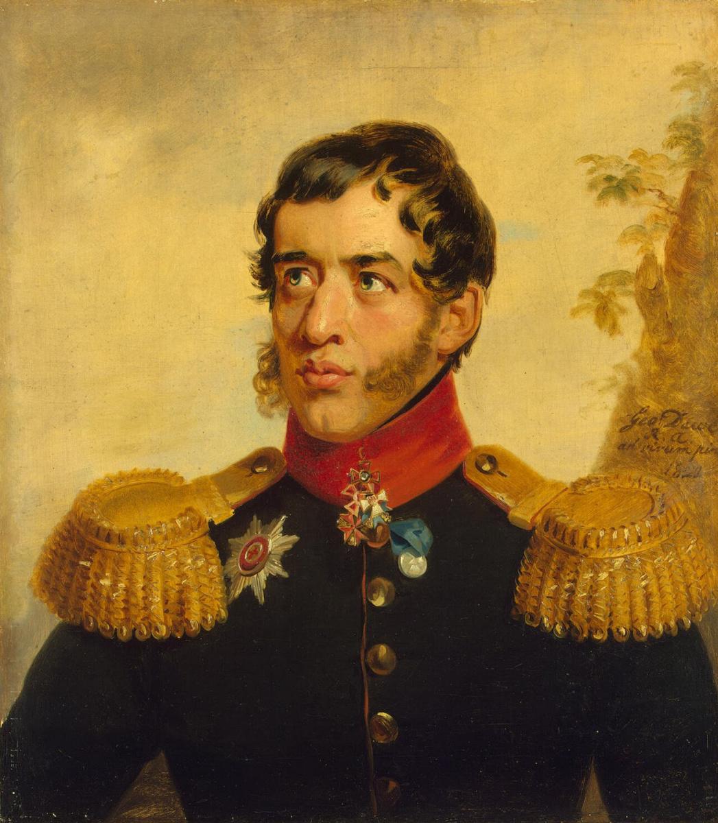 George Dow. Portrait of Sergei Grigorievich Volkonsky