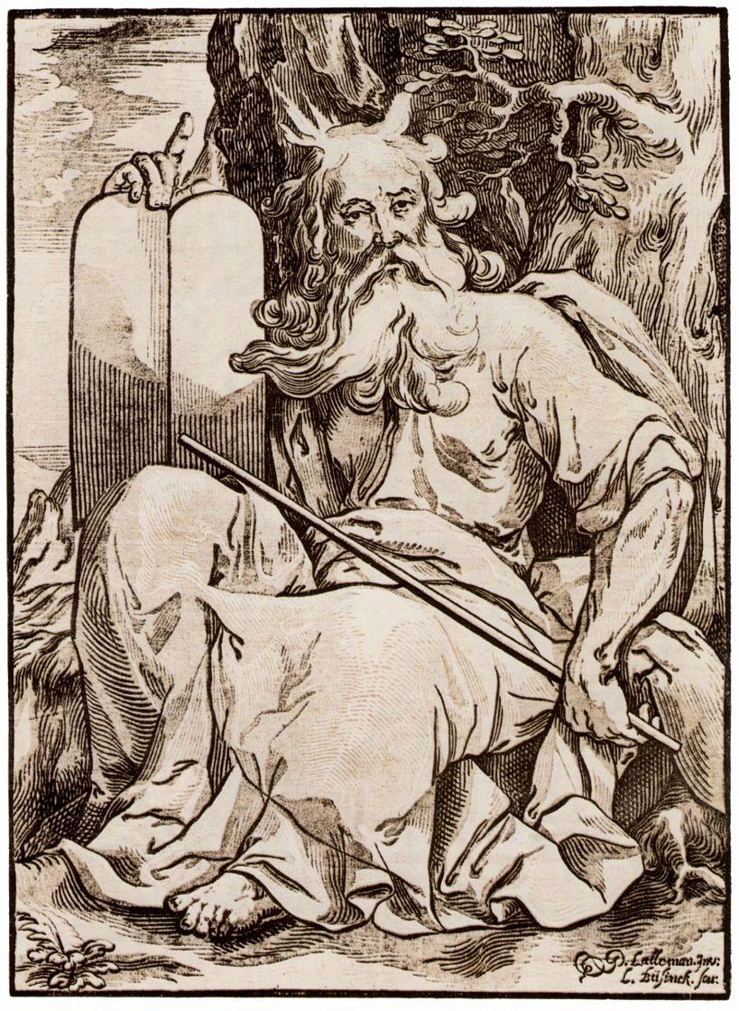 Жорж Лаллеман. Моисей со скрижалями завета