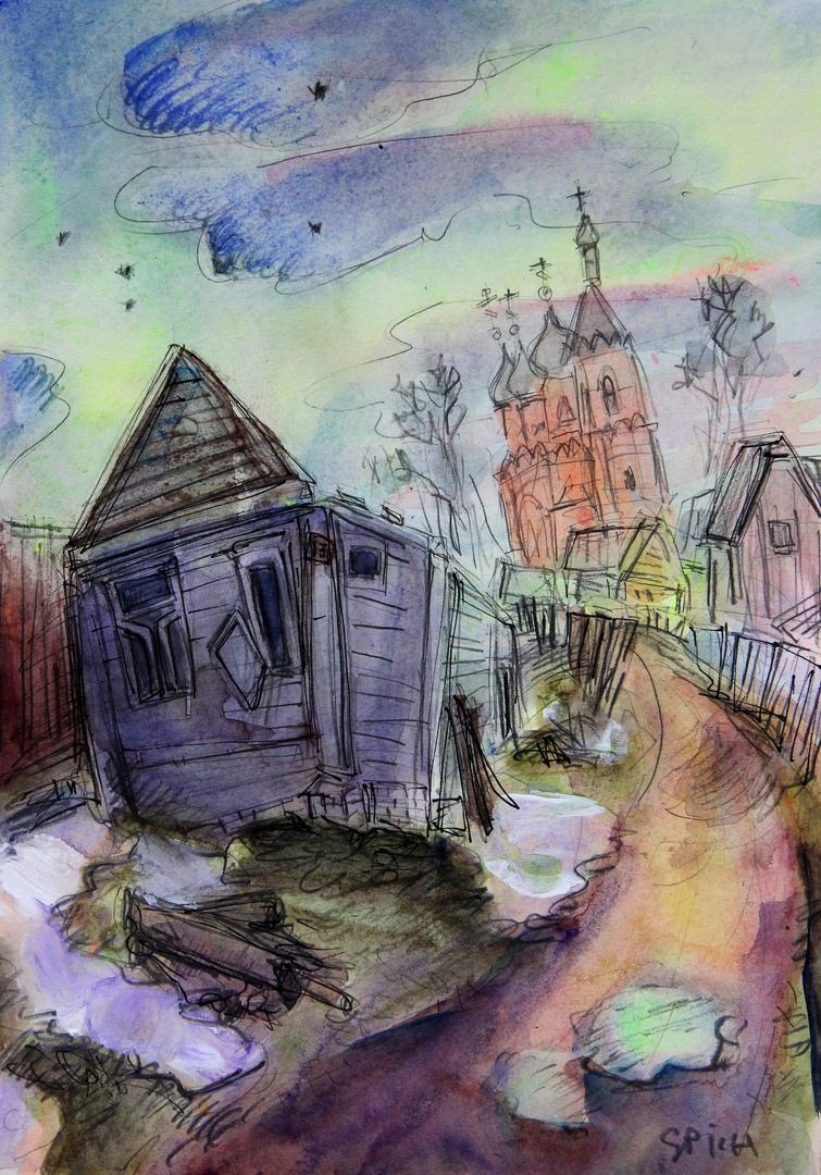 Ilya Pavlovich Spichenkov. Purple house