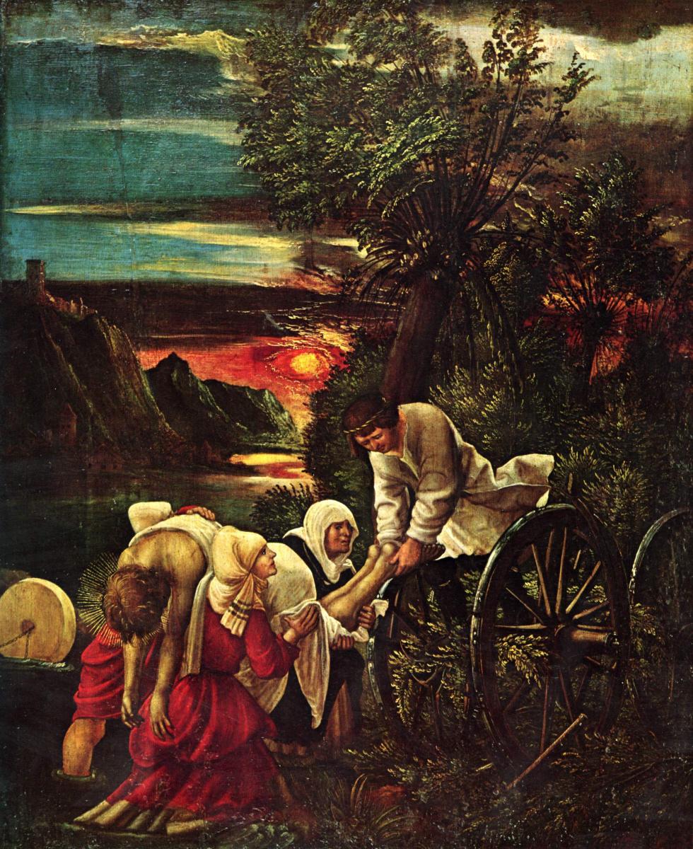 Albrecht Altdorfer. The life of St. Florian, scene from the life of St. Florian, St. Florian the capture. Detail