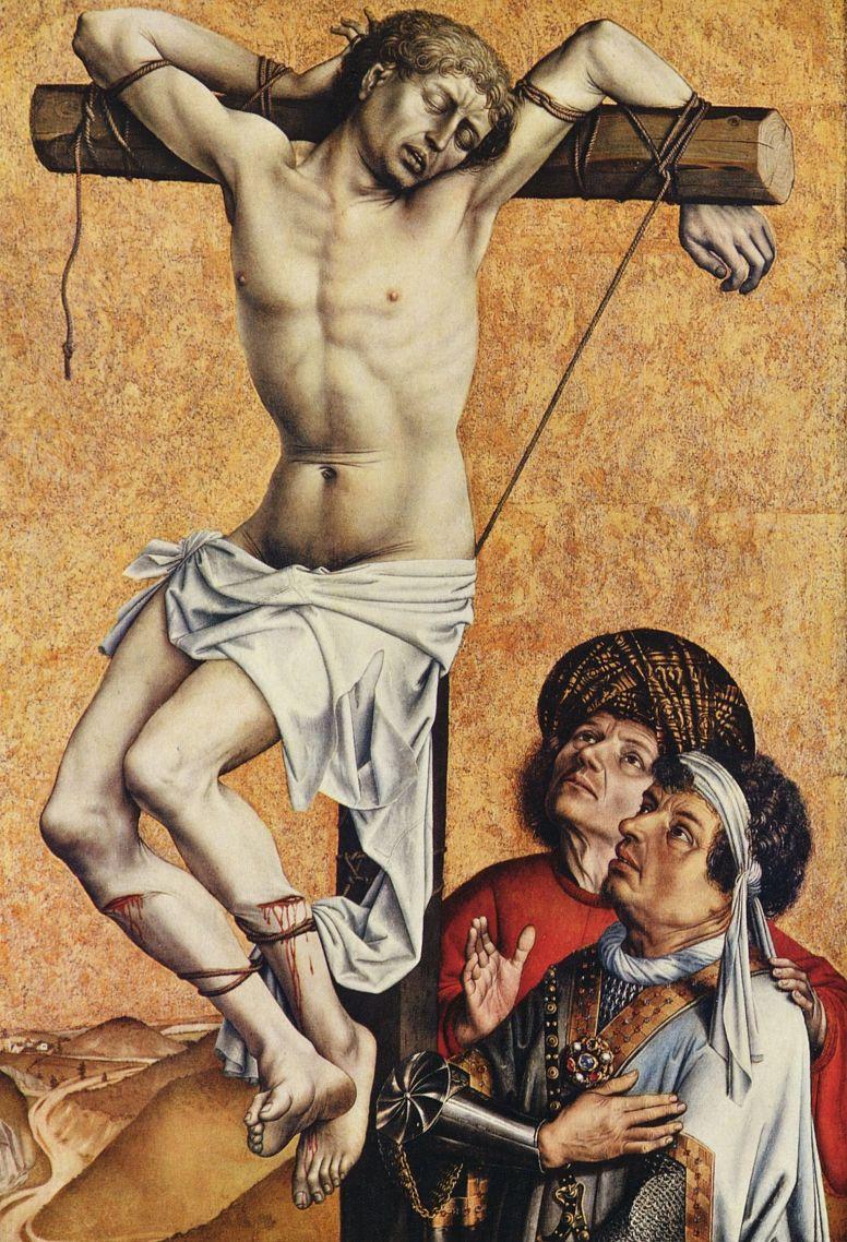 Робер Кампен. Раскаявшийся разбойник на кресте, фрагмент