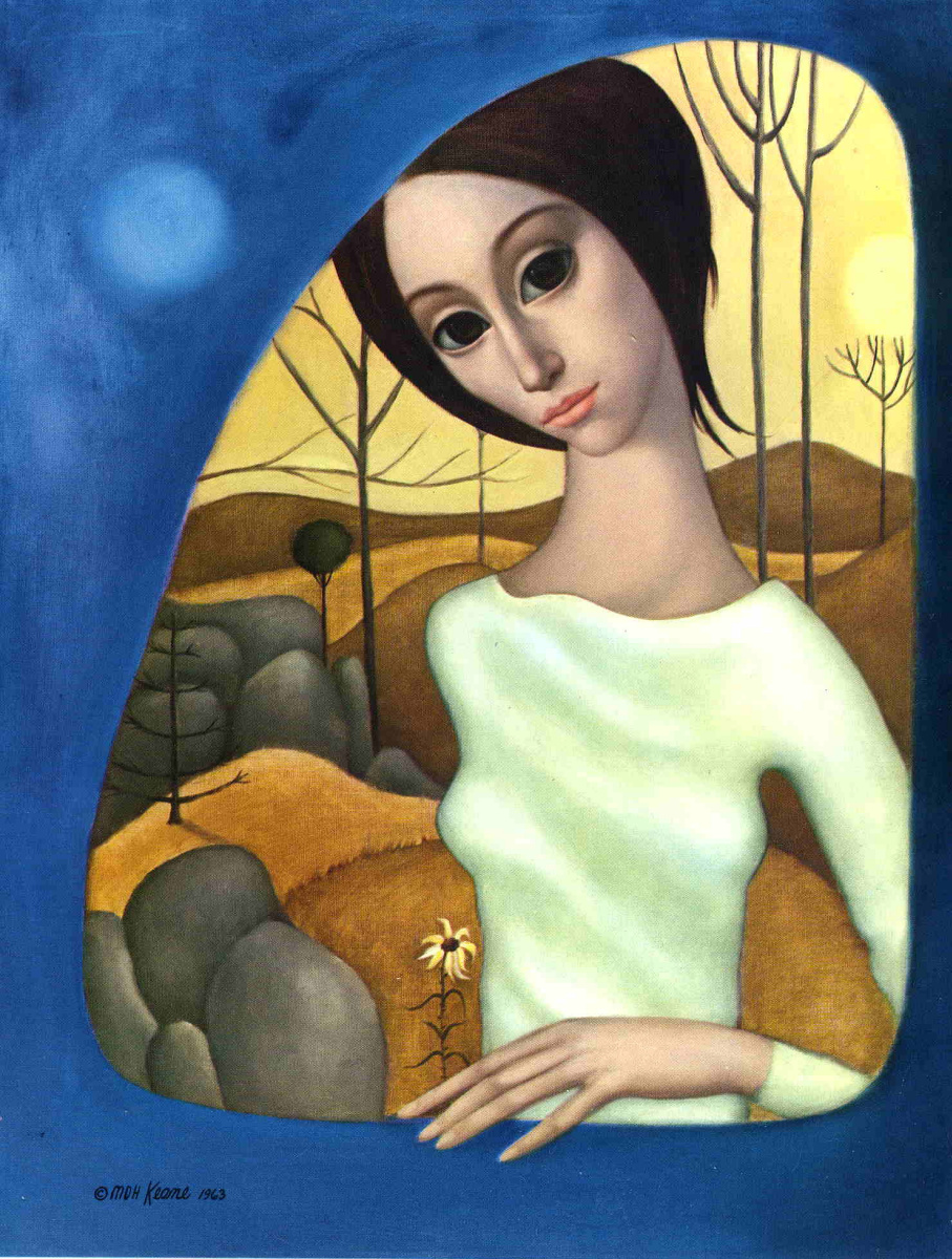 Маргарет Кин. Девушка в белом