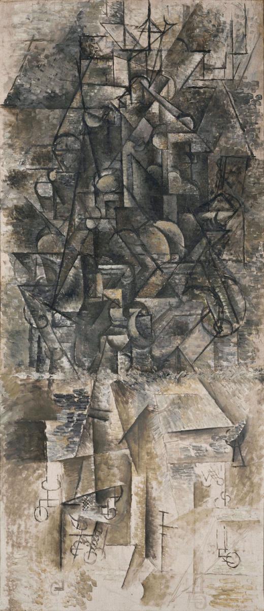Пабло Пикассо. Человек с мандолиной