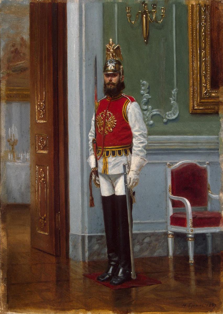 Наркиз Николаевич Бунин. Часовой лейб-гвардии конного полка в Зимнем дворце
