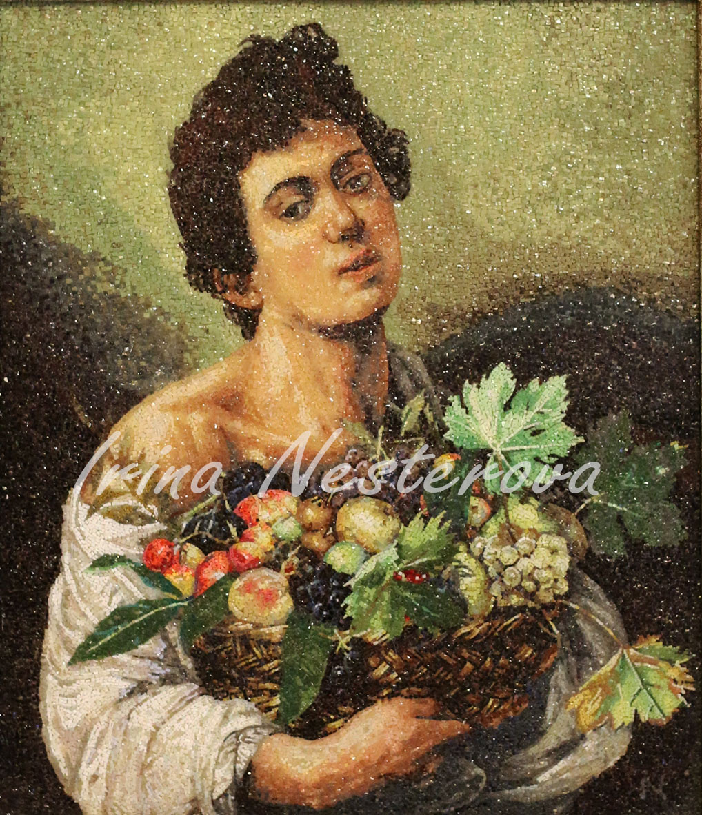 Irina Nesterova. Copy of Michelangelo de Caravaggio's painting Boy with Fruit