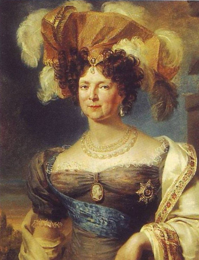 George Dow. Portrait of Empress Maria Feodorovna with the Order of St. Andrew the First Called