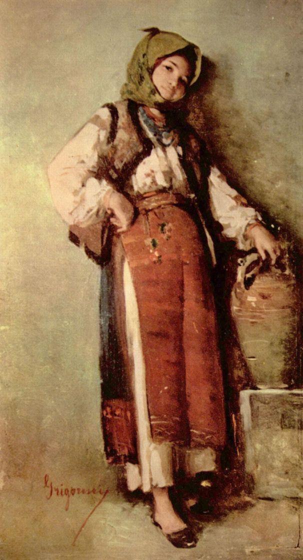 Nicolae Grigorescu. Peasant woman with jug