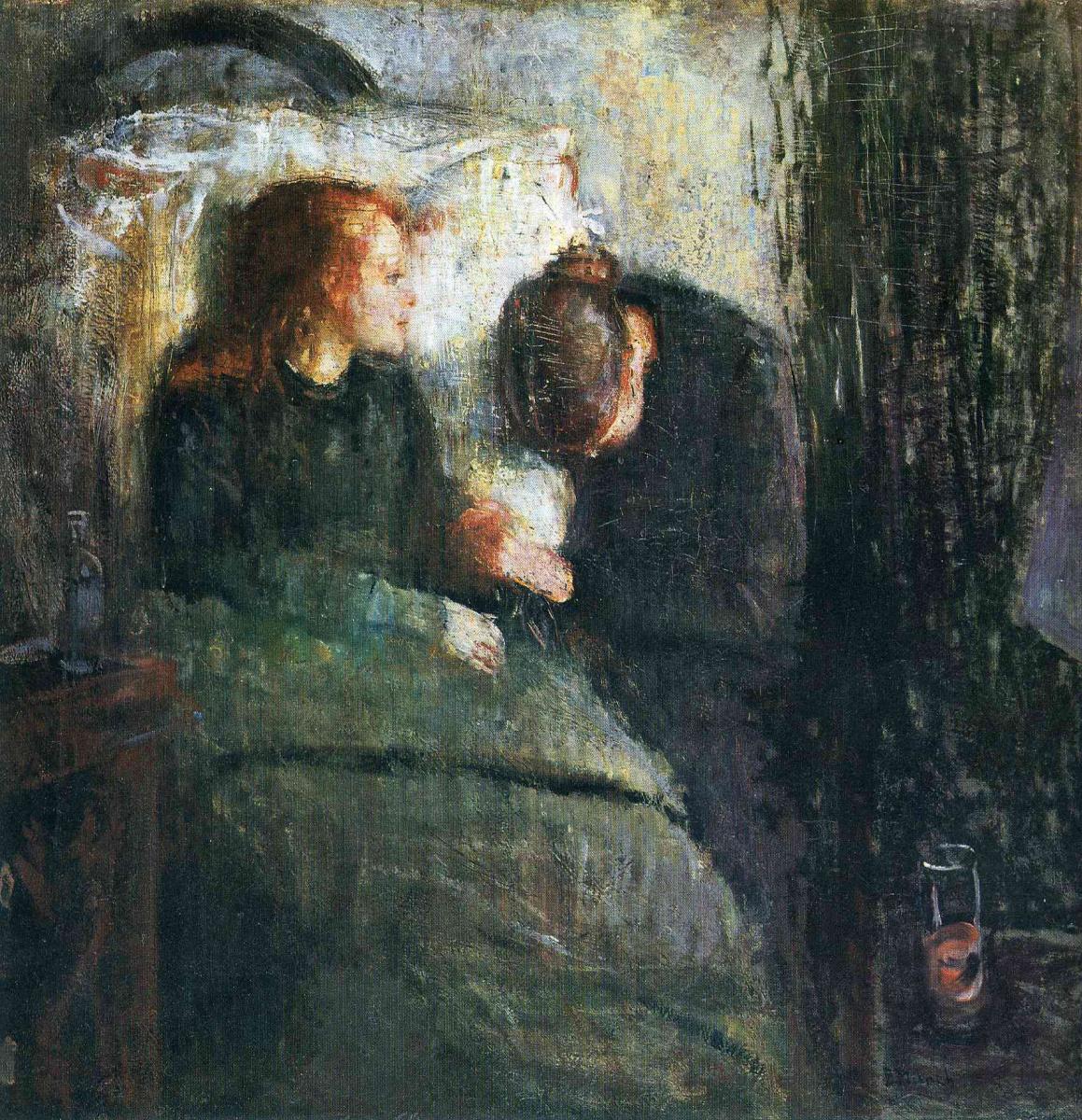 Edward Munch. Sick girl