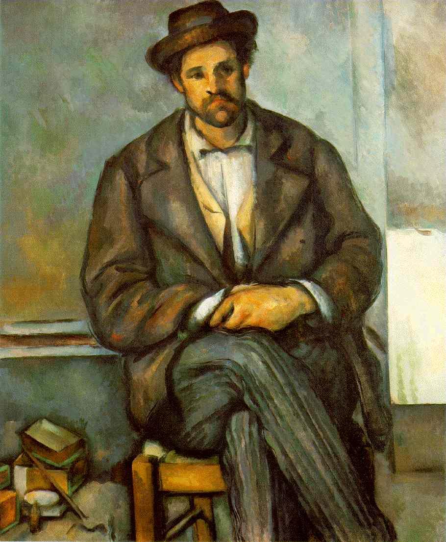 Поль Сезанн. Сидящий крестьянин