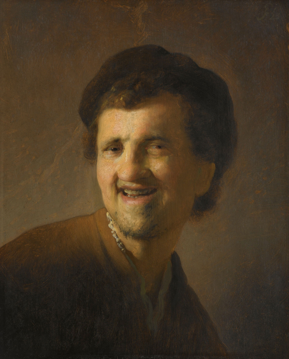 Рембрандт Харменс ван Рейн. Бюст смеющегося молодого мужчины