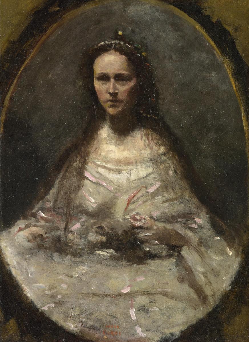 Камиль Коро. Девушка в платье невесты