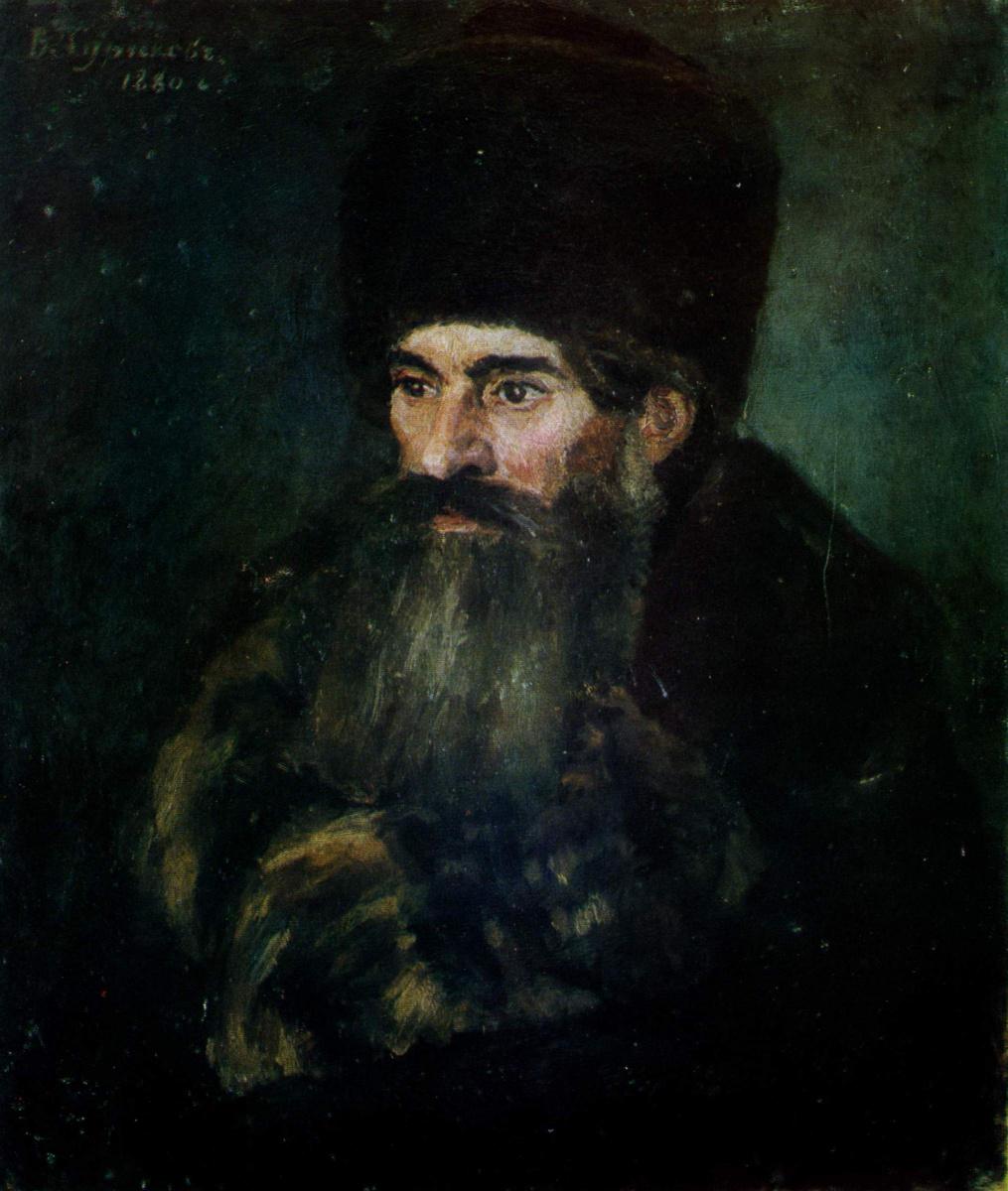 Василий Иванович Суриков. Старик в шубе