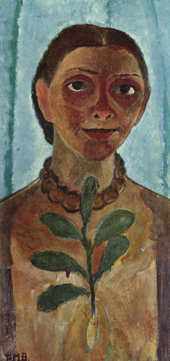 Паула Модерзон-Беккер. Художница с веткой камелии